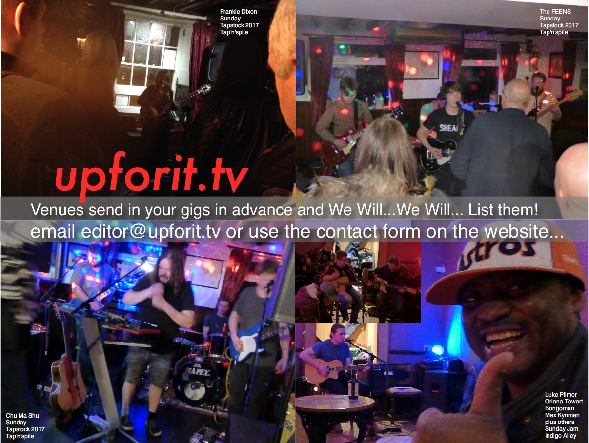 upforit.tv listings request Nov 2017 - Venues: Please send in your Scarborough area Live Music Listings in advance and we will list them in the printed publication which is freshly printed and distributed twice a month.
